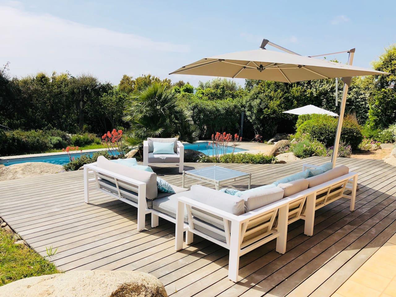 Terrasse rez de jardin