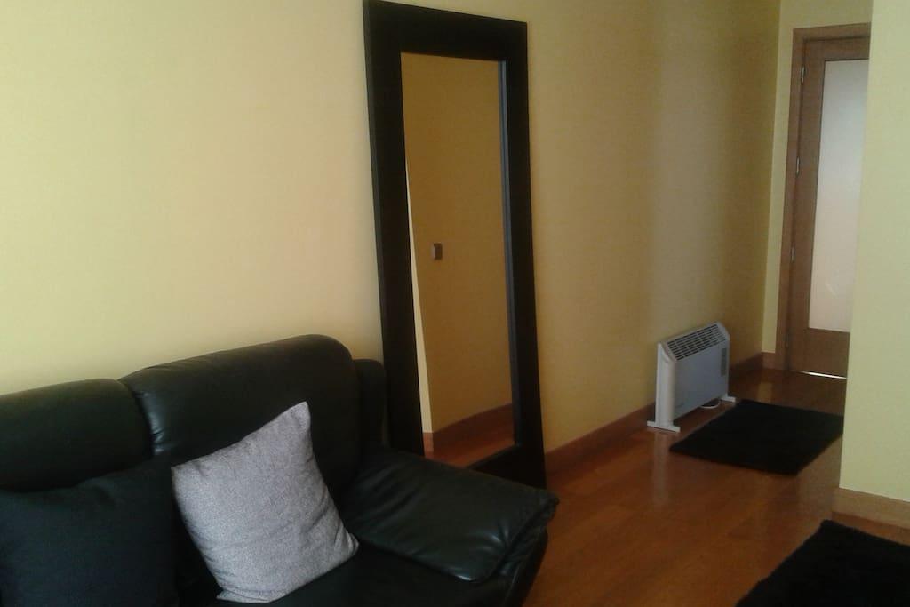 Hall de entrada para o quarto