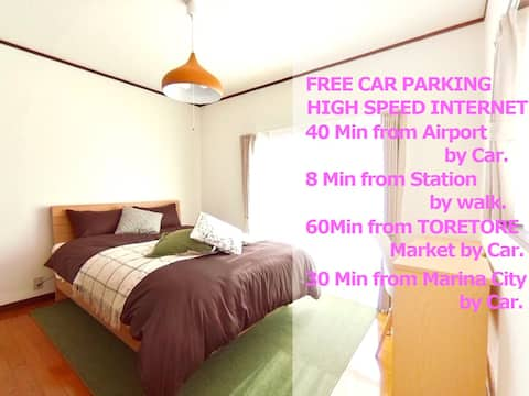 Parking FREE.5 minutes from Nankai WakayamashiSt.