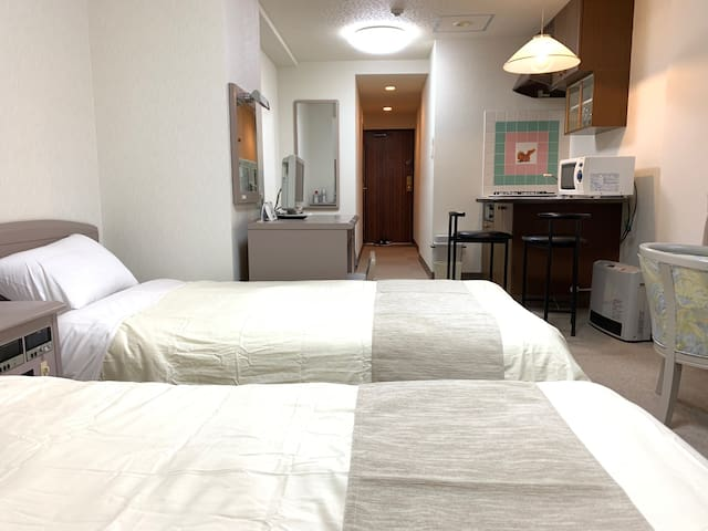 New!J21 Onsen in top floor, free parking and wifi!