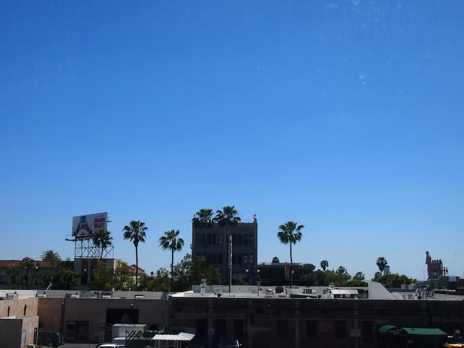 View from the studio, overlooking Hollywood Blvd