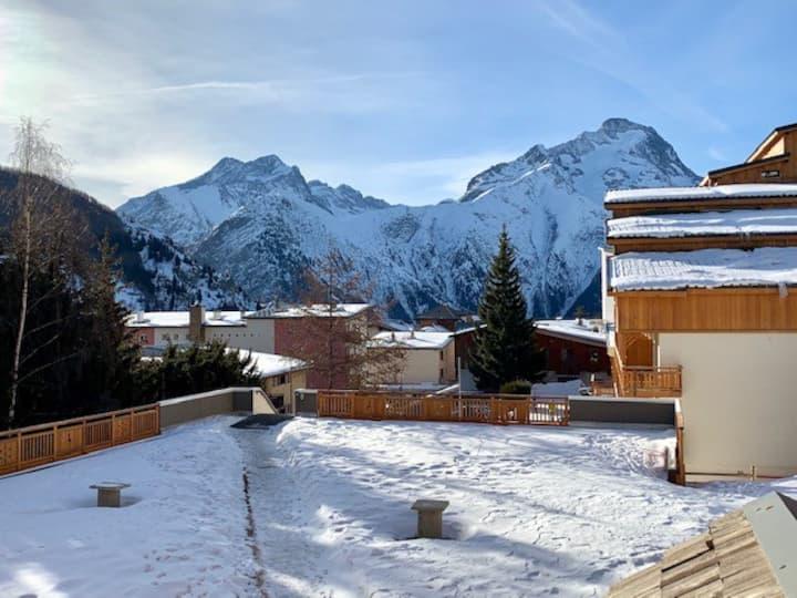 Les deux alpes studio cosy