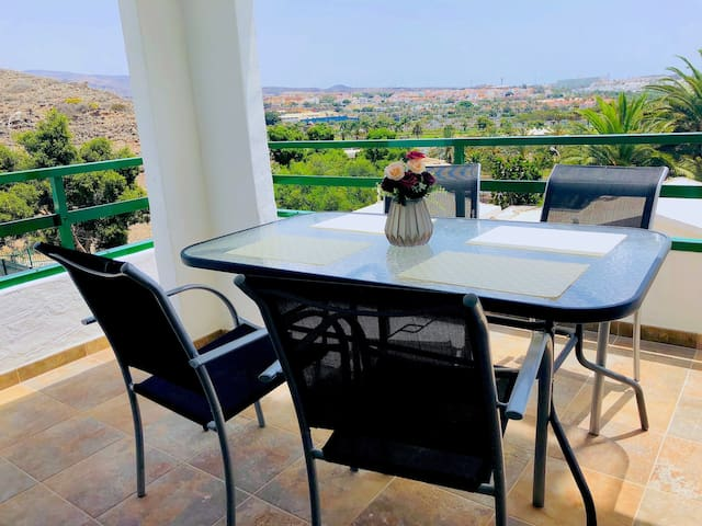 you are in a corner from the terraze wonderful views to anywhere