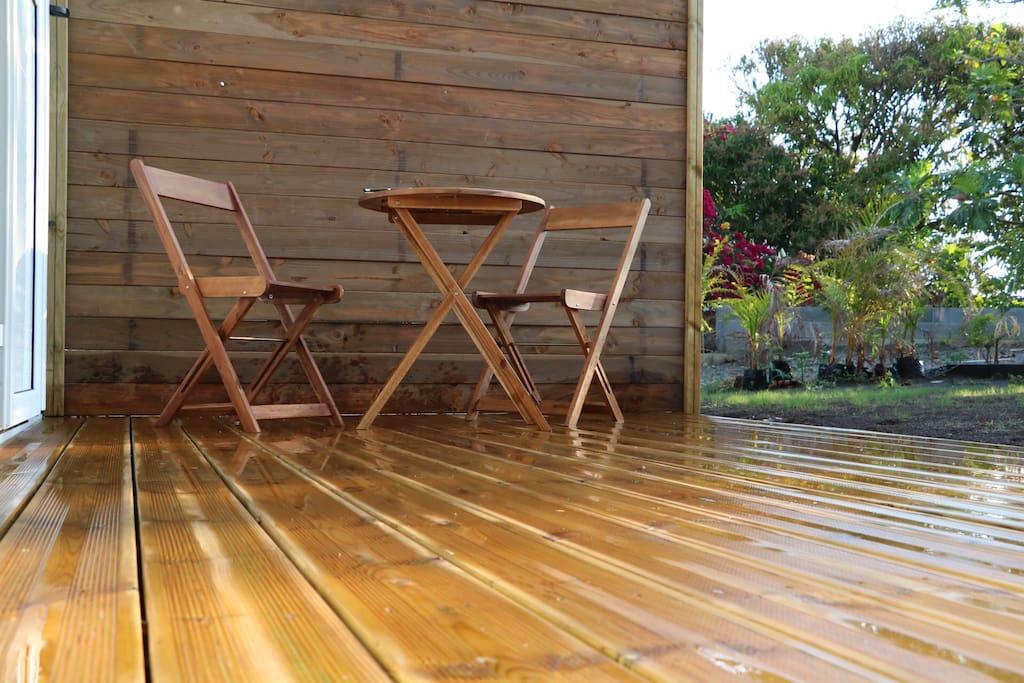 Terrasse en bois pour les apéros