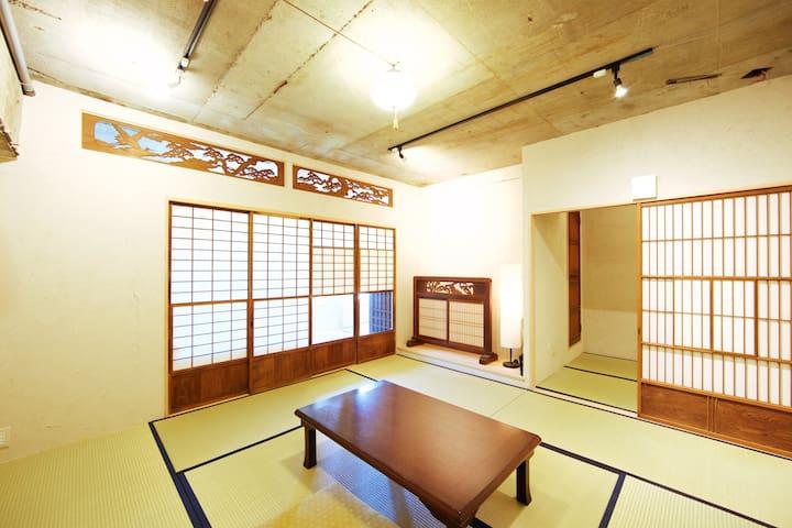 시부야 역 보행권 현대 일본식 모던 左
