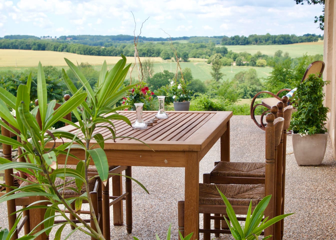 The terrace with fabulous views