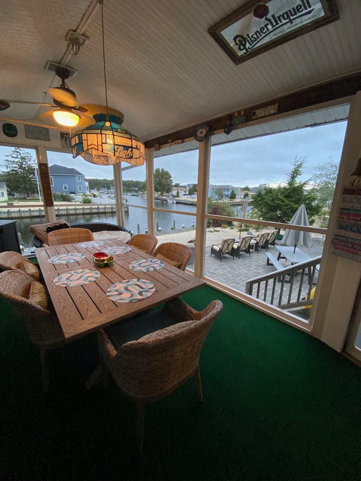 Waterfront Ocean County Home with a View