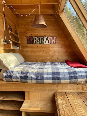 The nook bed - perfect for falling asleep under the stars.