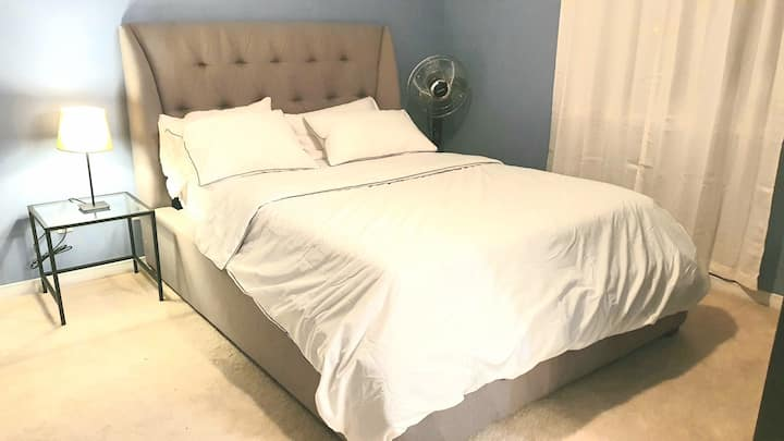 Clean friendly 2nd level room with private bath.