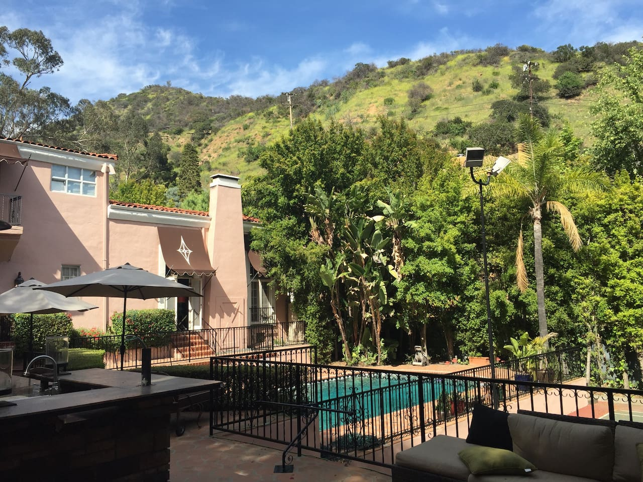 Nestled high in the Hollywood Hills---welcome to the Five Seasons--your L.A. home away from home.