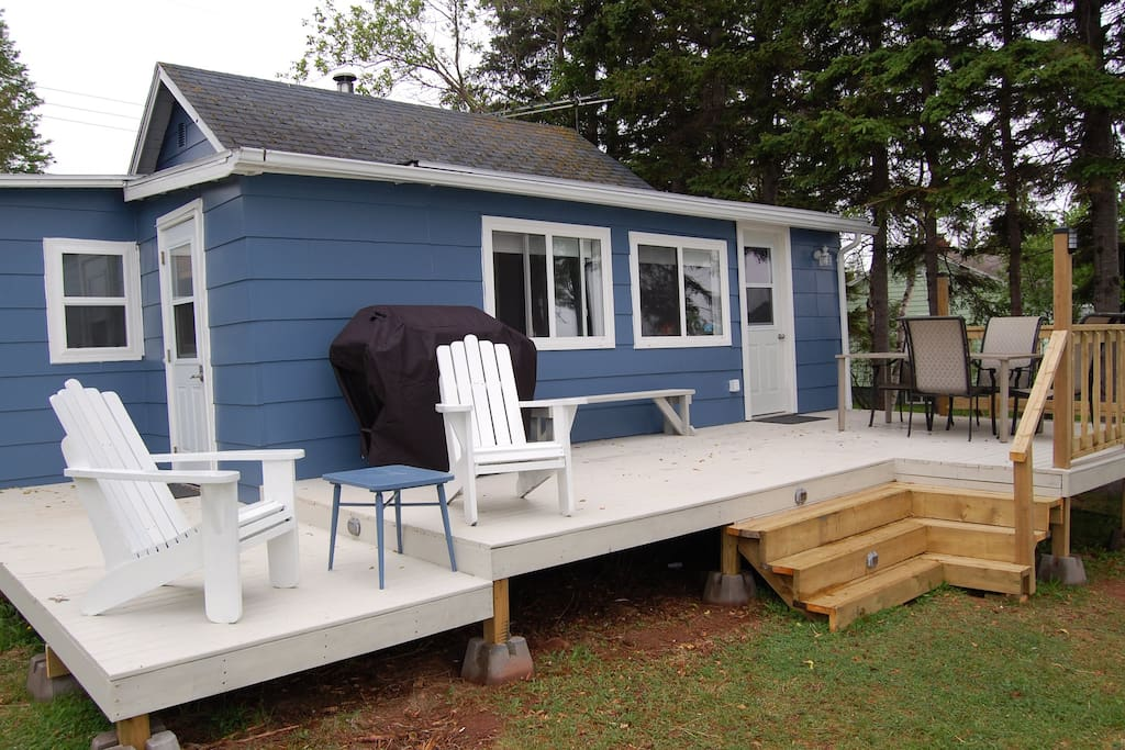 Enjoy the waterfront view from the spacious deck with plenty of seating and dining area and a new BBQ to use.