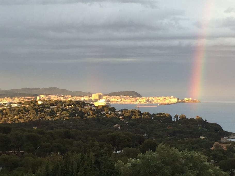 Our double rainbow and sea views!