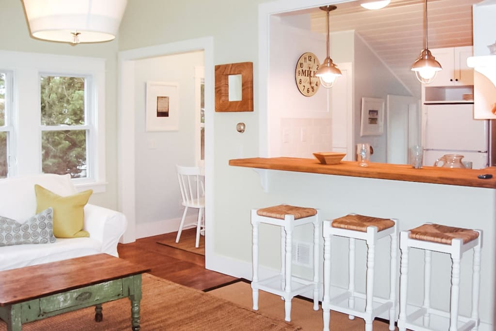 Living Room and kitchen Island for casual dining