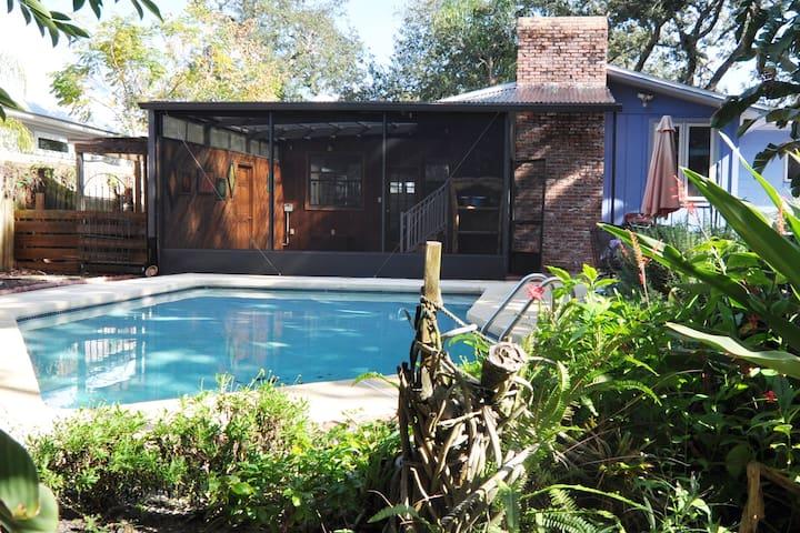 Mid-Century Pool home on Anastasia Island!  New!