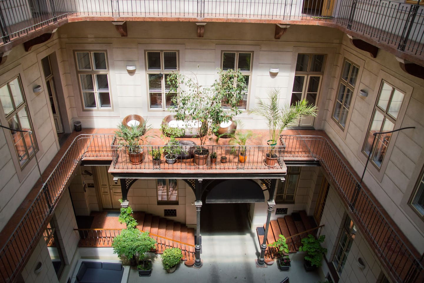 Our Courtyard During Summer Time