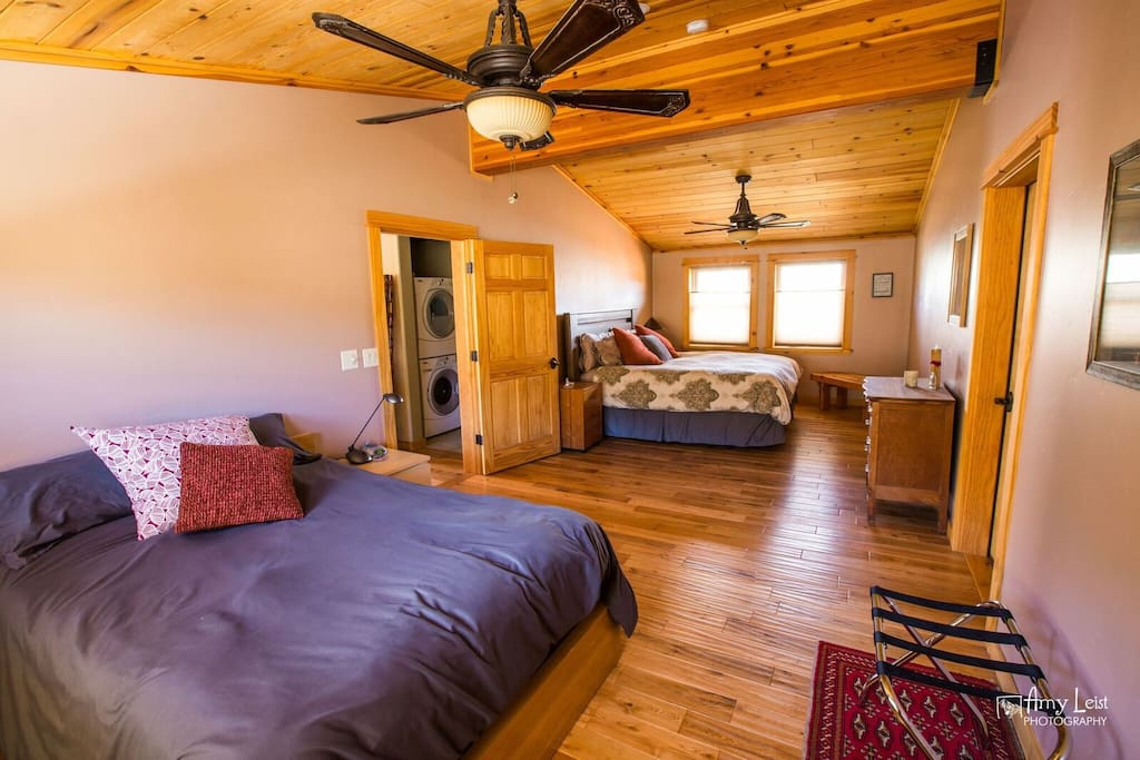 Extra large bedroom with Cal king bed and full bed