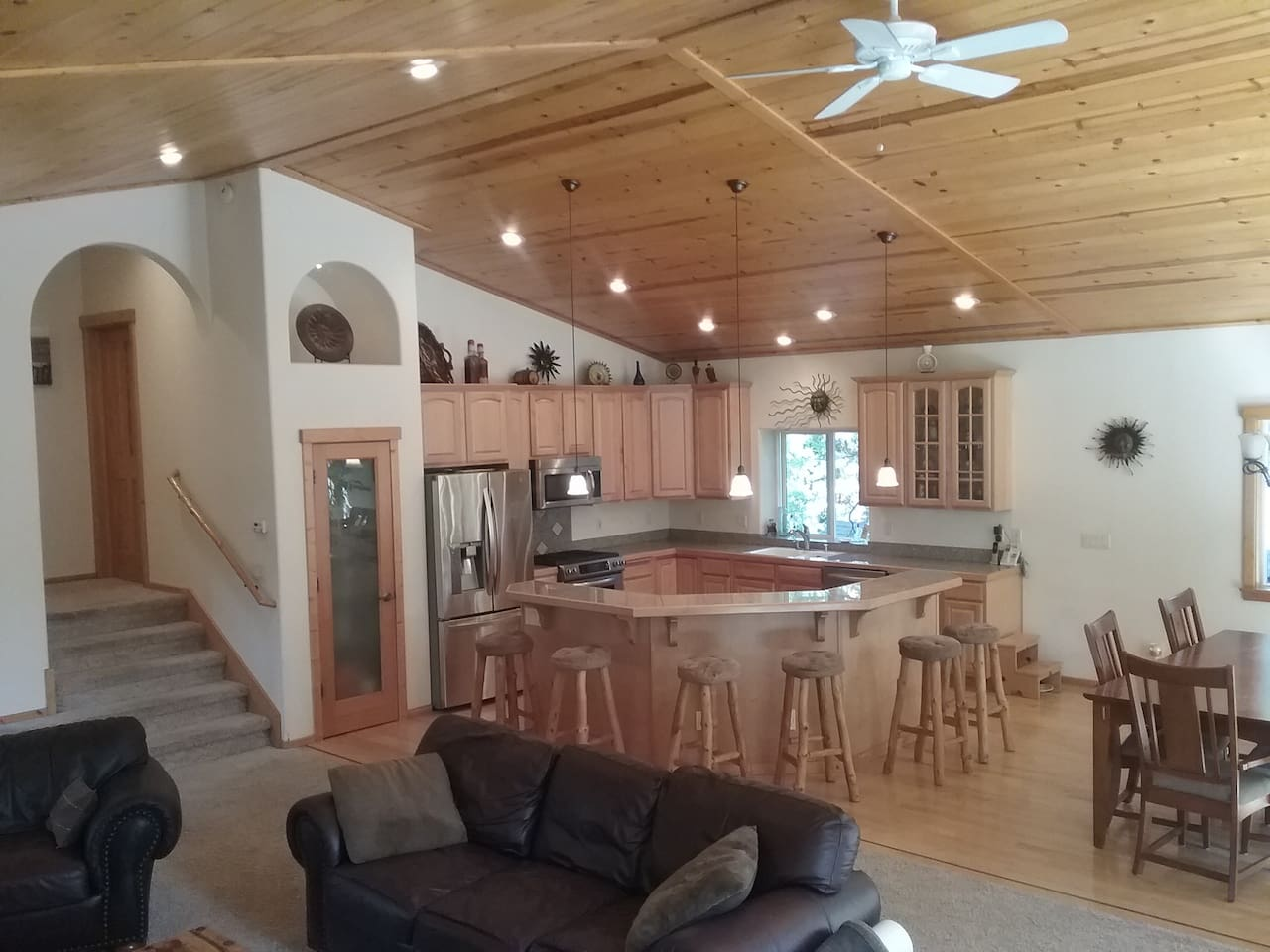 Open concept ... main living, dining, kitchen