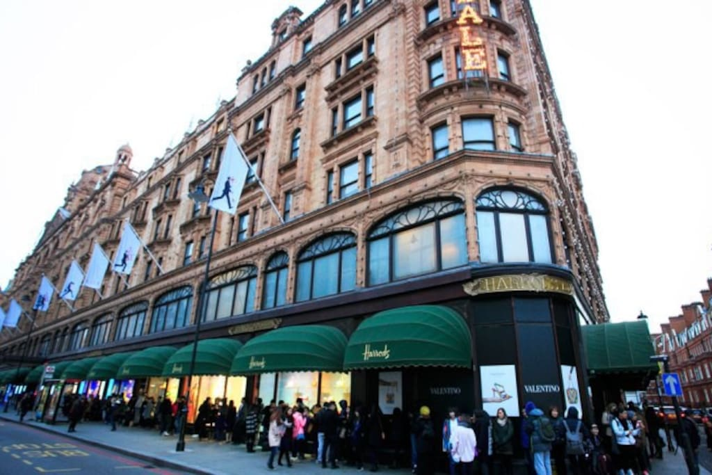 the famous Harrods at your doorstep
