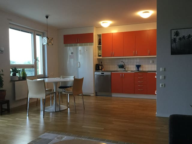 A big new apartment with lake view, Fri WiFi