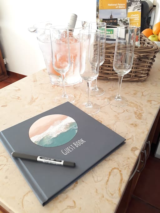 Guest Book and Welcome Pack