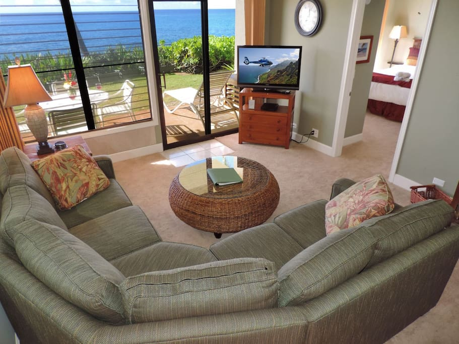 Living Room, Master Bedroom and Lanai