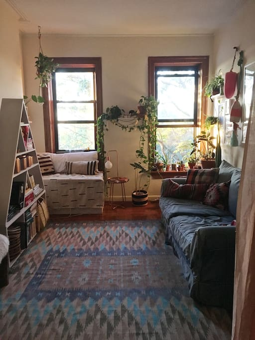 Park Slope Treehouse cozy living room