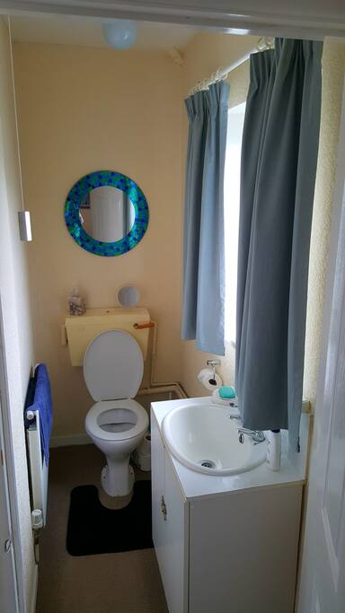 Private ensuite toilet  (main bathroom with shower is shared)