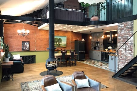 Уникальный 3х уровневый фабричный лофт