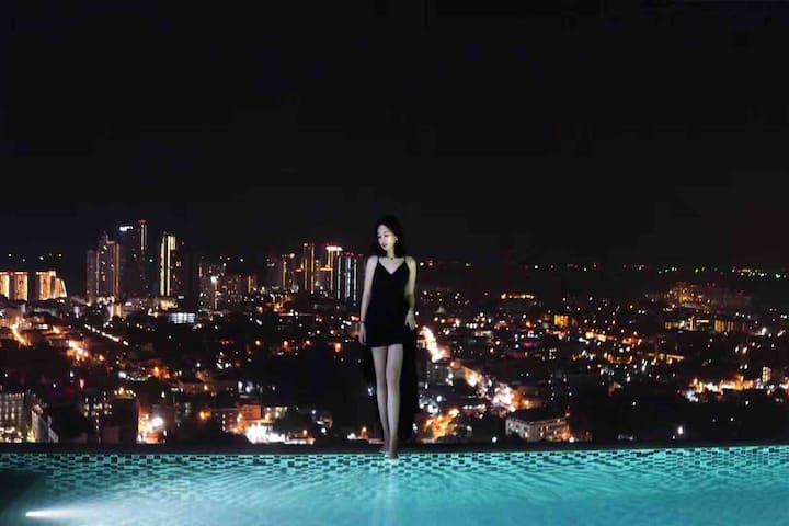 【Infinity Pool】芭提雅网红品牌公寓/市中心/无边泳池 /海景大套房/毗邻最大商场