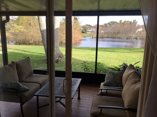 Screened in porch to enjoy nature watching
