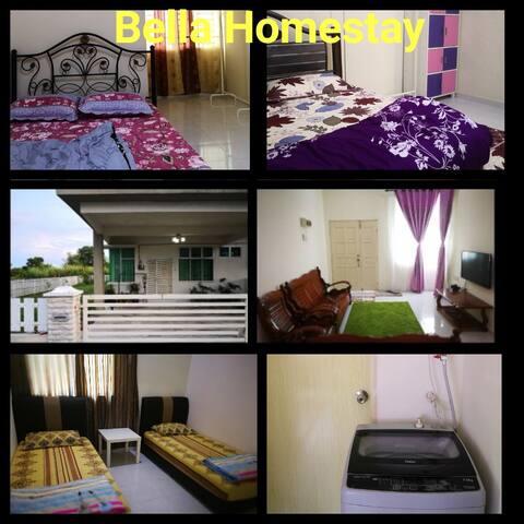 Bella Homestay (3 bilik berair-cond)