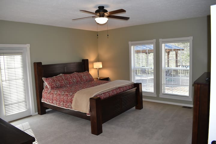 Master Bedroom features a King-sized bed with Serta memory foam mattress and premium sheets for maximum comfort.
