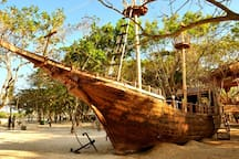 Visit around: This is not pirate ship, this is restaurant :)