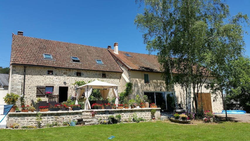 Chambres près de Saulieu petit dej /ou Appt entier - Champeau-en-Morvan - Haus