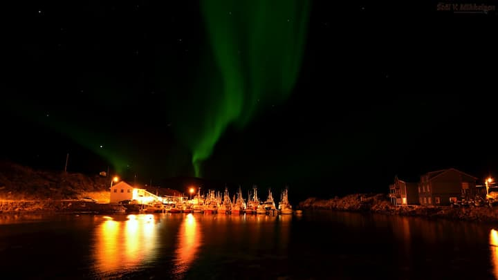Kamøyvær northern lights lodge