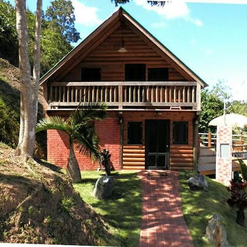 Rustic Log Cabins w/Pool Sleeps 1-8 - Orocovis - Rumah