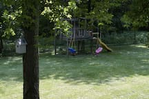 Large Fenced Back Yard With Play Area