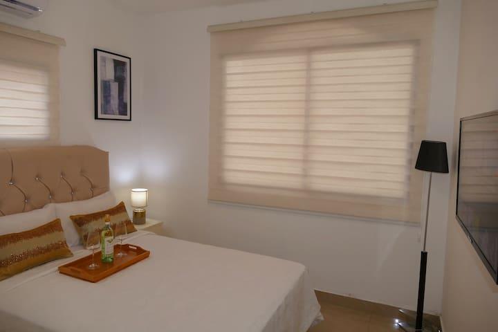 Servicios Tipo Hotel Aire Acondicionado A/C,  Internet WiFi, Agua caliente, Smart TV, Netflix, Area Lavanderia.