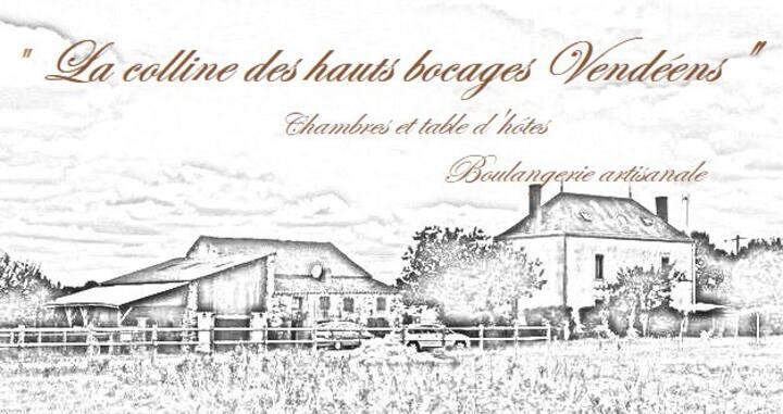 Chambre de 1 à 3 personnes à 17 mn du Puy du Fou