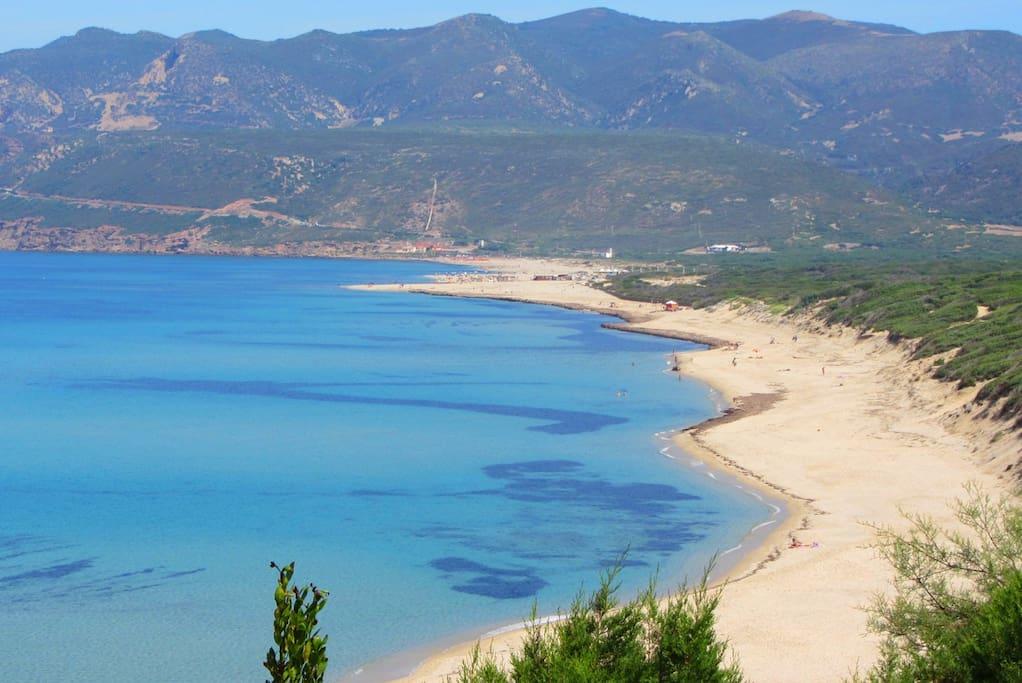La spiaggia di 4 km - The beach 4km long