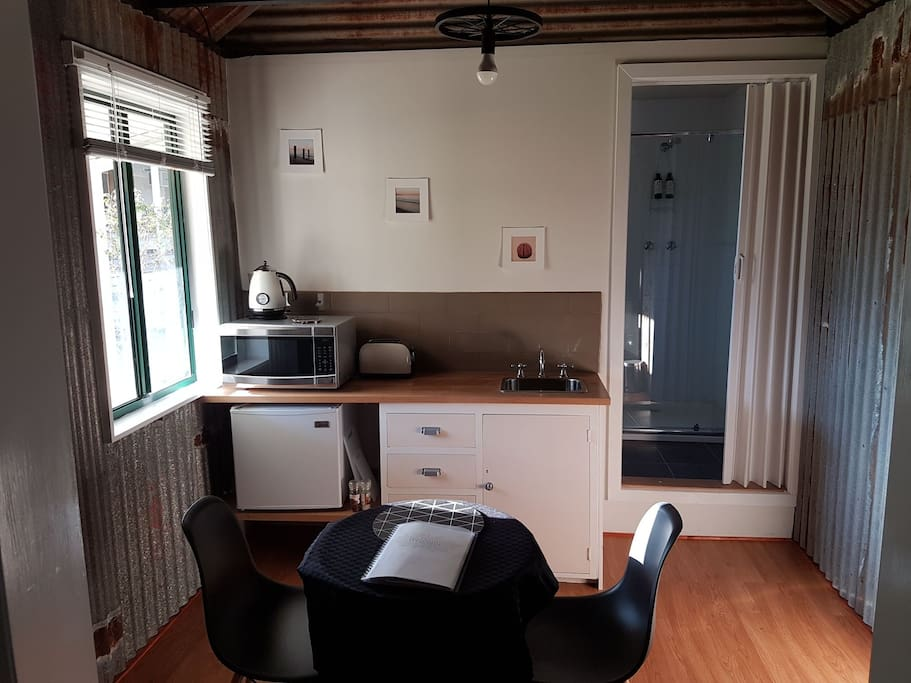 kitchenette, no cooking facilities provided.