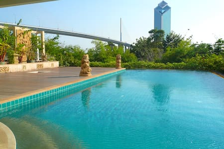 "Nice 3BR Apt, River Front view, near ""Asiatique"" - Bangkok"