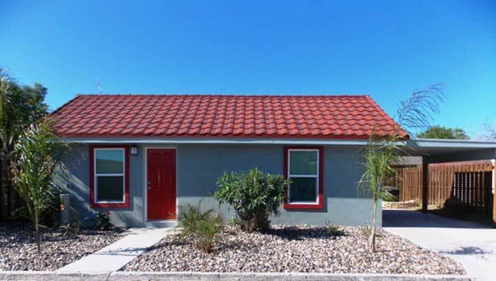 Renovated cottage at Spanish Village with Carport!