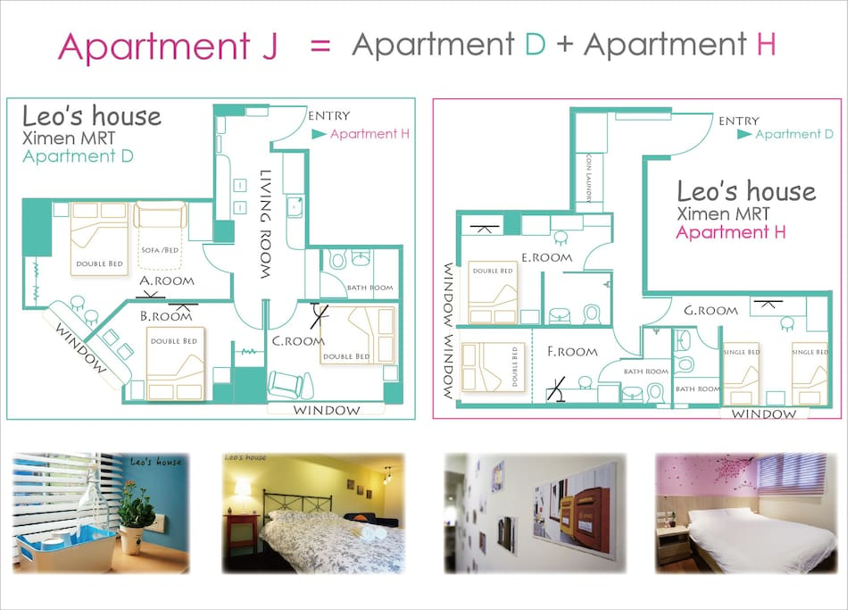 Floor plan  J house = D+H