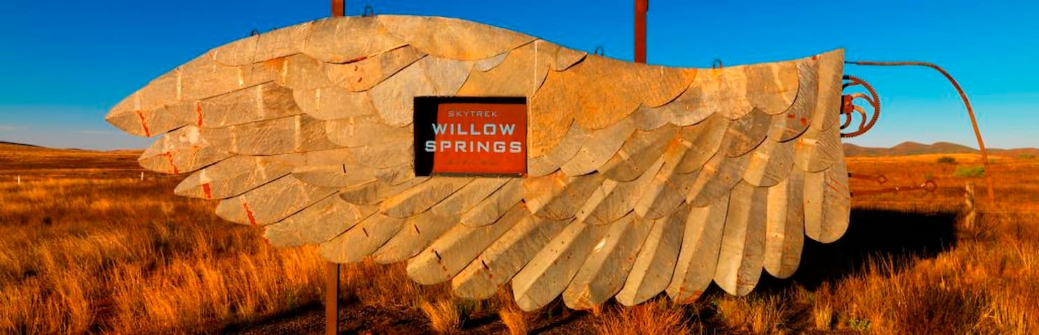 Skytrek Willow Springs Station Entry Sign