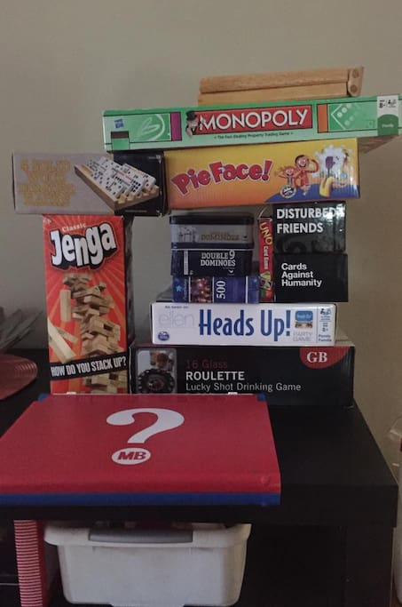 Fun home with Games for everyone! For  fun drinking night or just a  family night!