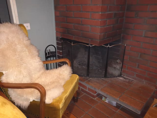 Камин в каминной комнате (комната общего пользования)  Takka takkahuoneessa (yhteinen huone)