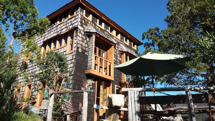 Encantadora casa familiar orilla lago, Alto Biobio