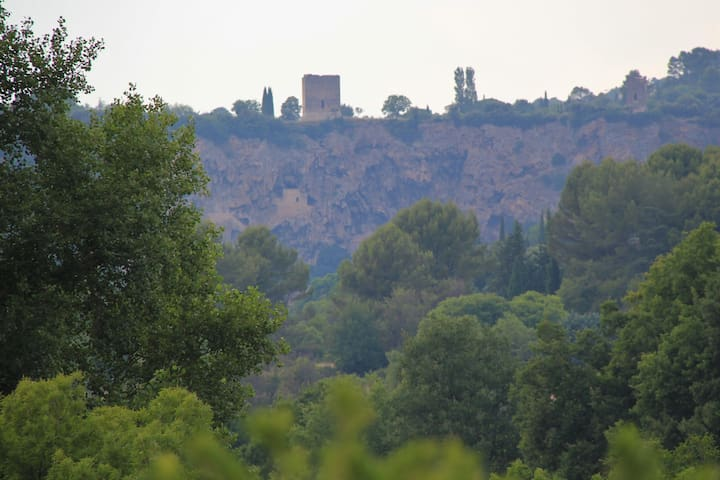Cotignac towers - view from the house