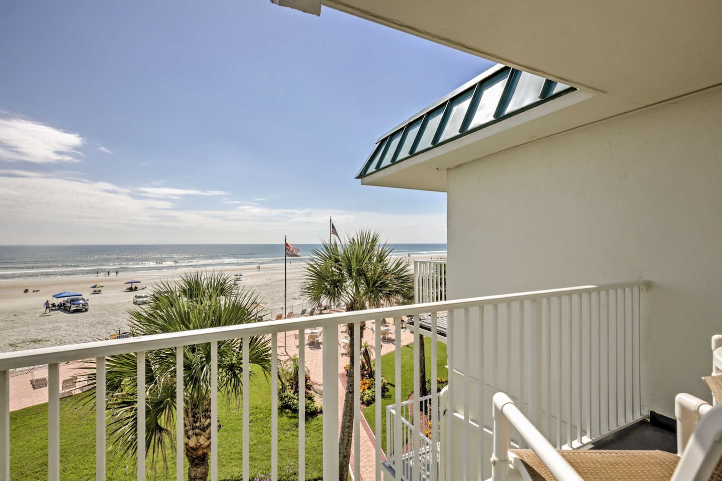 Pack your bags and head South to stay in this vacation rental studio in Daytona Beach.
